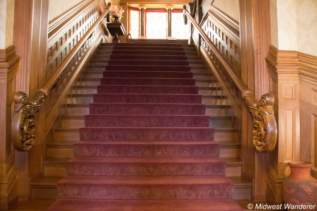 This image has an empty alt attribute; its file name is Howard-Steamboat-Museum-staircase-1024x683.jpg