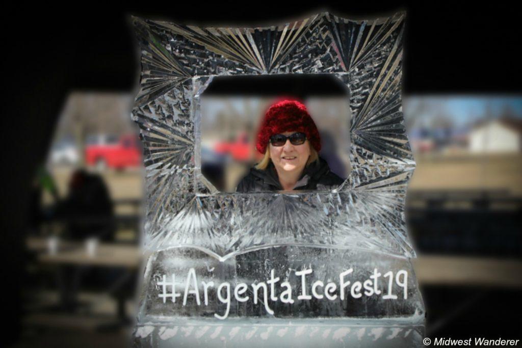 Argenta IceFest - frame ice sculpture