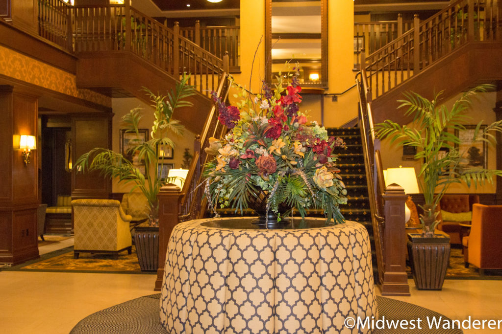 Hotel Julien Dubuque lobby staircase