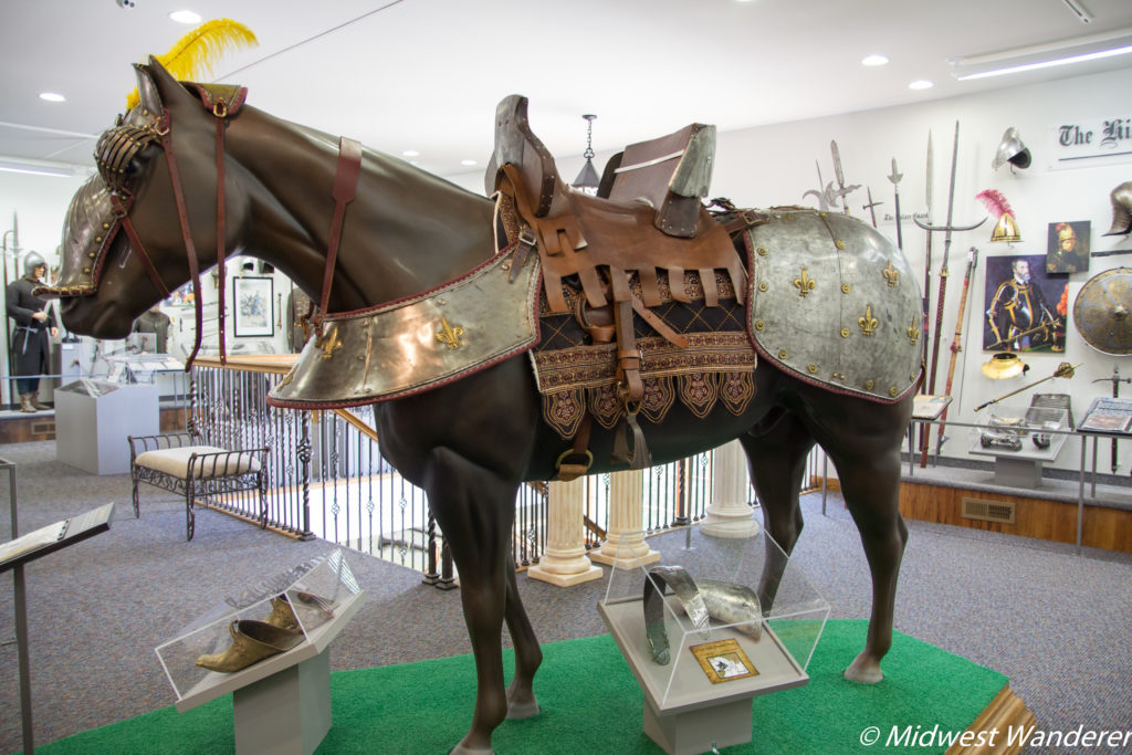 Horse with armor at Castlerock Museum