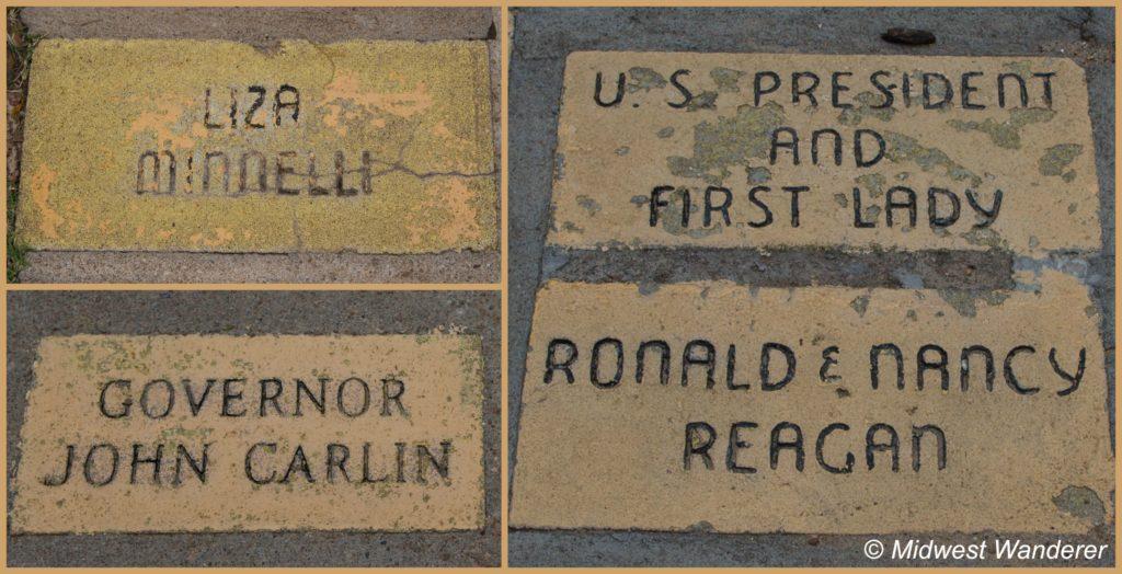 Notable bricks along the Yellow Brick Road